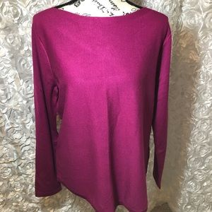Chico's Sz 1 US Sz Medium Magenta Pink Sweater NWT